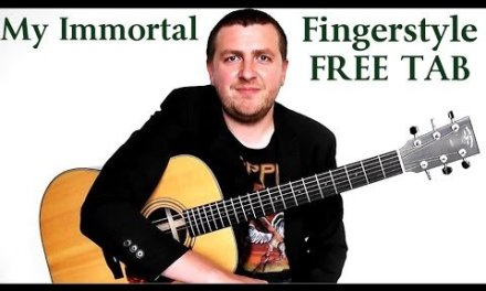 My Immortal – Fingerstyle Guitar Tutorial – Evanescence – Part 1 – Drue James