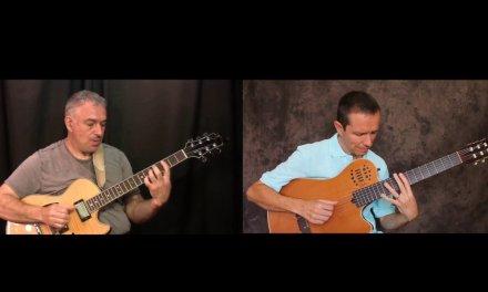 One Note Samba, Walter Rodrigues Jr., Jake Reichbart, guitar duo, fingerstyle jazz guitar