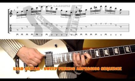 Sweep Picking Arpeggios Sequence GUITAR LESSON with TAB