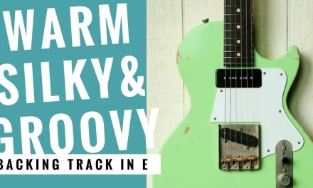 Warm Silky & Groovy   Guitar Backing Track Jam in E