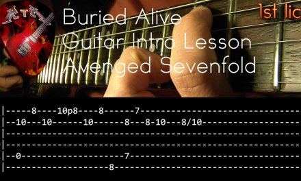 Buried Alive Guitar Intro Lesson – Avenged Sevenfold (with tabs)