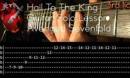 Hail To The King Guitar Solo Lesson – Avenged Sevenfold (with tabs)