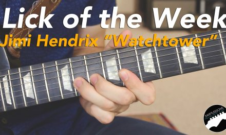 """Jimi Hendrix """"All Along the Watchtower"""" Guitar Lick Lesson"""