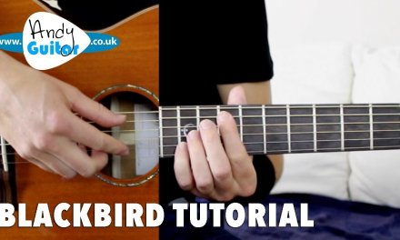 Blackbird Guitar Lesson Tutorial Fingerstyle – The Beatles how to play
