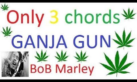 Ganja gun guitar tutorial cover+lesson only 3 simple chords