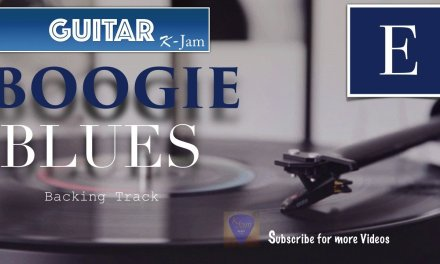 BOOGIE BLUES Guitar Backing Track in E