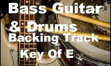 Drums & Bass Guitar Backing Track Key Of E 100 Bpm Royalty Free