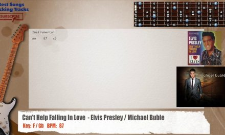 Can't Help Falling In Love  – Elvis Presley / Michael Buble Guitar RIFFS Backing Track