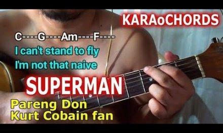 Superman – Karaoke Chords Lyrics – Five for Fighting Guitar Tutorial