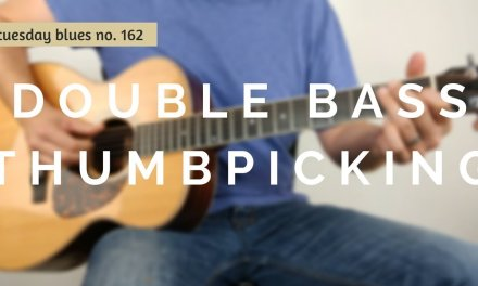 How to Use Double Bass Thumbpicking to Spice Up the Shuffle | Tuesday Blues #162