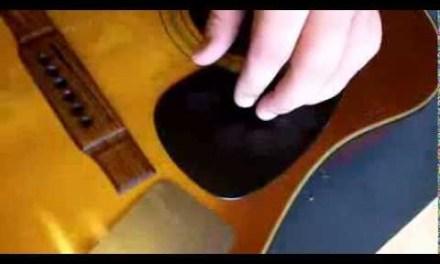 Acoustic Guitar Pickguard Replacement.