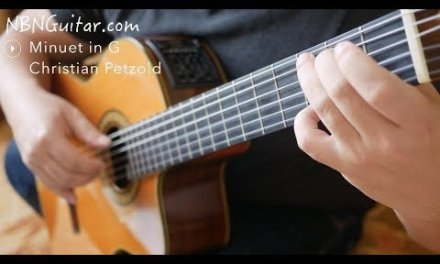 Minuet in G | Classical Guitar | Christian Petzold | Free Tabs