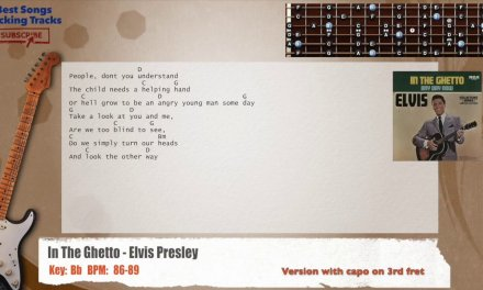 In The Ghetto – Elvis Presley Guitar Backing Track with chords and lyrics