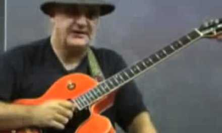 Guitar Solo and Lesson with Frank Gambale sharing some Pentatonic Scale Sweeping and Blues ideas