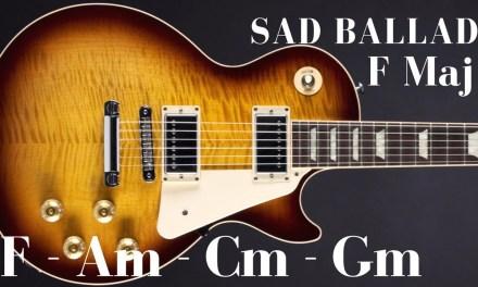 Sad Slow Ballad Guitar Backing Track in F