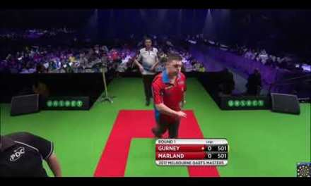 Daryl Gurney v Dave Marland – Round 1 – 2017 Melbourne Darts Masters