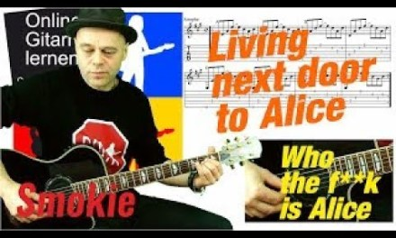 Living Next Door to Alice – Guitar Lesson – Acoustic Cover – Smokie – (By Peter Winnett)