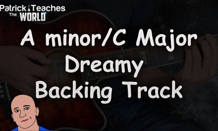 A Minor- C Major-Dreamy Guitar Backing Track-Jam-Easy Rock