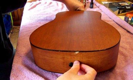 Acoustic Guitar Back Separating – Easy Repair