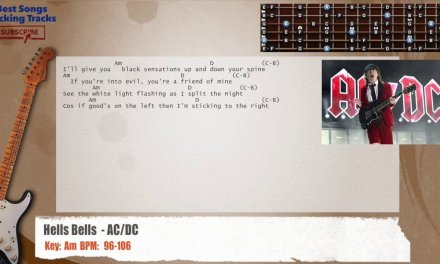 Hells Bells  – AC/DC Guitar Backing Track with chords and lyrics