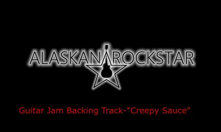 "Guitar Jam Backing Track ""Creepy Sauce"""