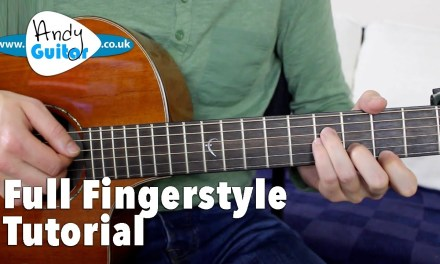 Somewhere Over The Rainbow Fingerstyle Tutorial Guitar Lesson