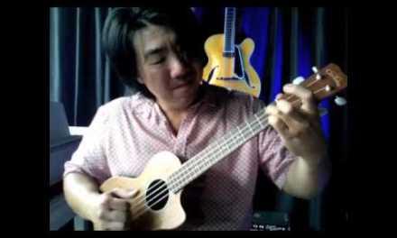 "How to play ""Dream A Little Dream"" For Ukulele(solo jazz Uke)"