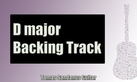 Backing Track in D Major Emotional Pop Rock with Chords and D Major Pentatonic Scale