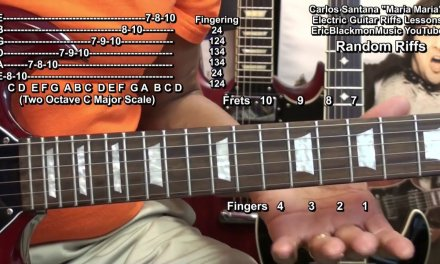 Carlos Santana MARIA MARIA Guitar Solo Riffs Lesson  Wild Thoughts DJ Khaled Melody