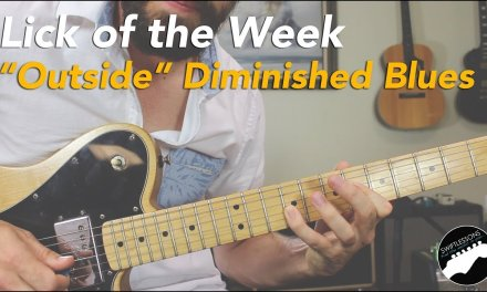 """""""Playing Outside"""" Diminished Blues Guitar Lick Lesson 