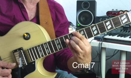 Shell Chords Guitar Lesson Root C with Root on E String and A String