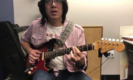 Berklee Private Guitar Lesson / Bb Jazz Blues Walking Bass Line / Tomo Fujita