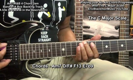 How To Play The C Major Scale Over A Minor Chord Progression On Guitar EricBlackmonGuitar HD