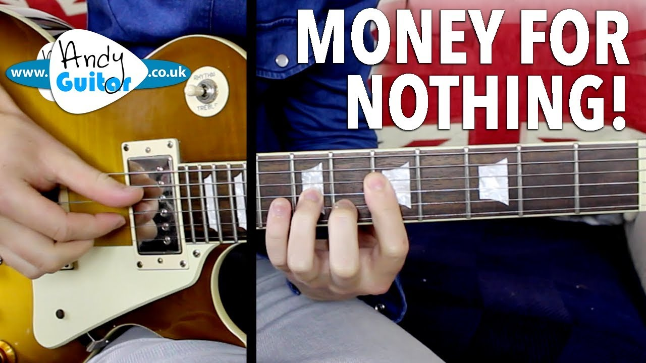 Money For Nothing Guitar Lesson Dire Straits Mark Knopfler The