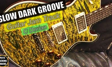 Slow Dark Groove Guitar Backing Track Jam in C Dorian