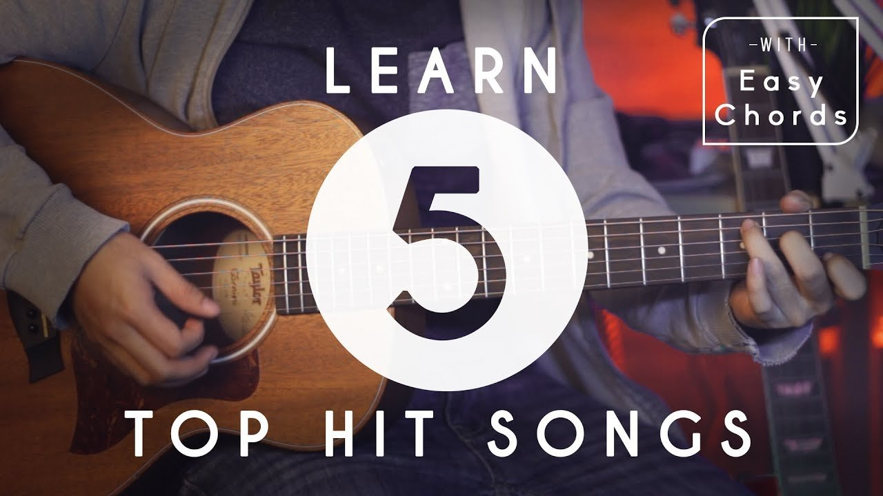How To Play 5 Top Hit Songs For Beginners Guitar Tutorial Easy