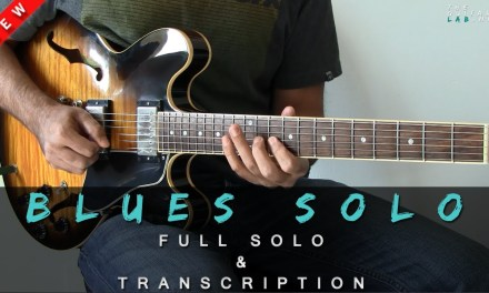 New Lesson – Full Blues Solo – TheGuitarLab.net –