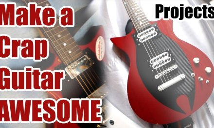 Make a Crap Guitar Awesome – With Commentary! – JDSC Projects