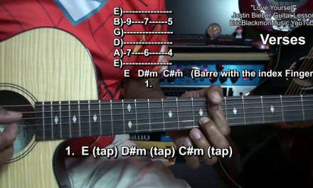 How To Play LOVE YOURSELF on Guitar Justin Bieber EASY EricBlackmonGuitar HD