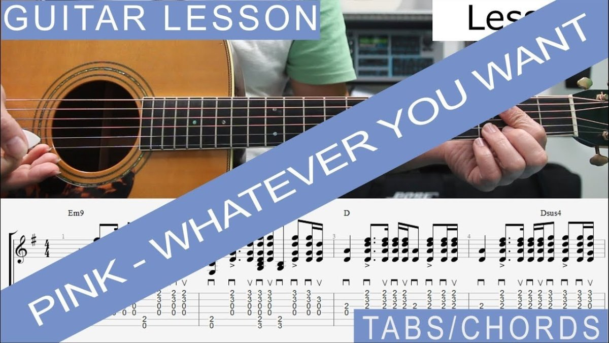 Pink Whatever You Want Guitar Lesson Tab Tutorial Chords The Glog