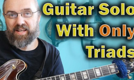 Guitar Solo With ONLY Triads  – Jazz Blues