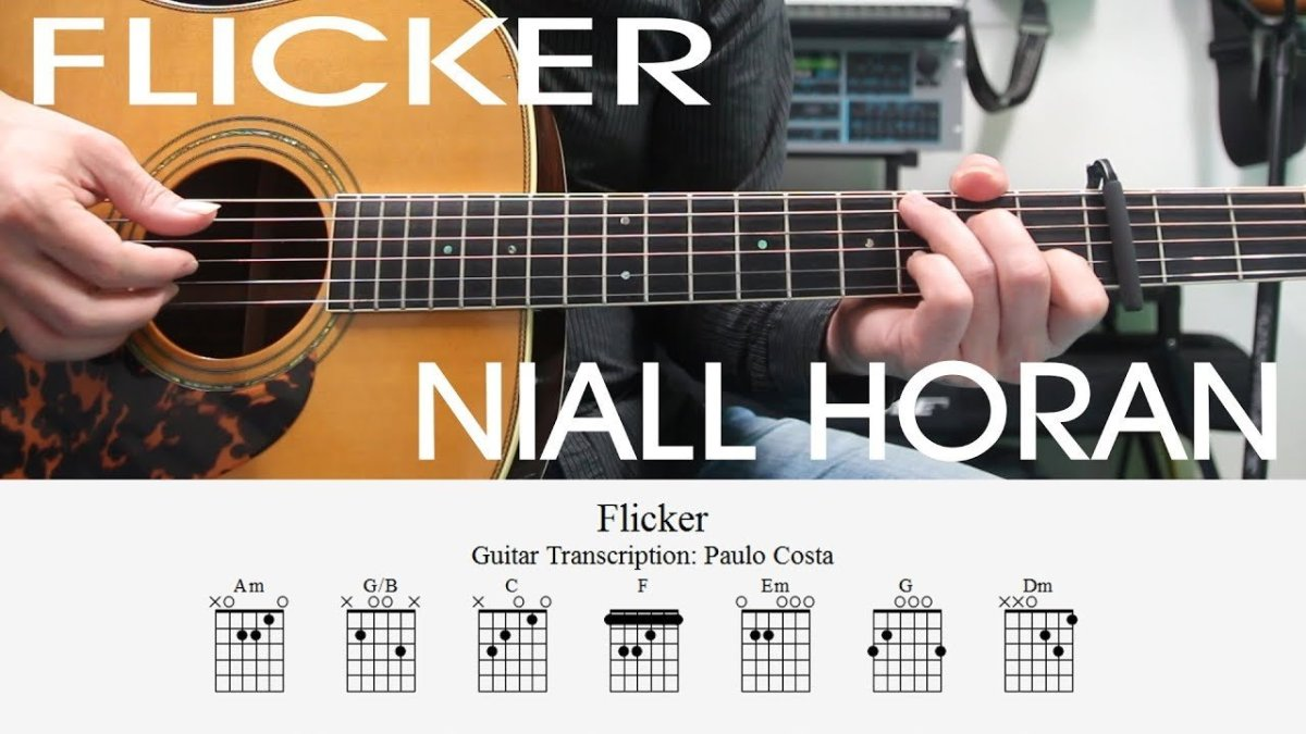Niall Horan Flicker Acoustic How To Play Easy Chords Guitar