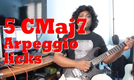 5 must know Jazz Guitar Licks in CMaj7 with Backing Track