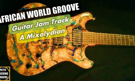 African World Groove Guitar Backing Track Jam in A Mixolydian