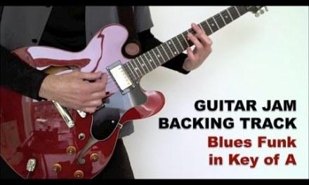 Guitar Jam Backing Track – Blues Funk in A (96 bpm)