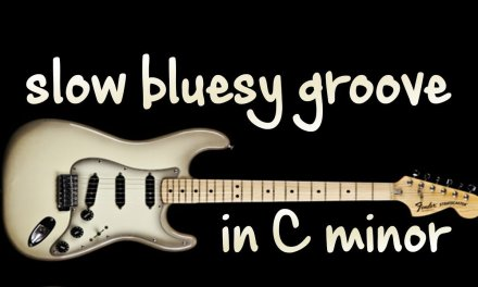 Slow Bluesy Groove Backing Track in C minor