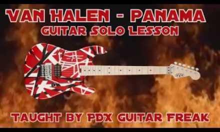 Guitar Lesson – Panama (Van Halen) with Tabs!