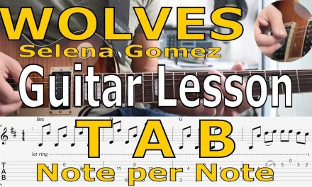 Selena Gomez, Wolves,  Tutorial,  TAB, Guitar Lesson, How to play, Chords