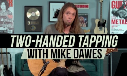 """Mike Dawes Awesome Two-Handed Tapping Lesson from """"Melancholia"""""""