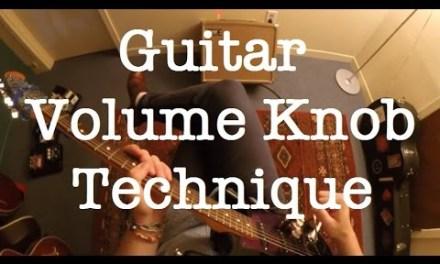 Guitar Swells Lesson   Guitar Volume Knob Technique